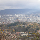 circuit GPS de rando, Les Côtes de Clermont - Durtol : Vue sur Clermont-Ferrand