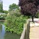 circuit GPS de rando, Chemin du Rond de Beuvron - Montfort sur Risle : Dans le village de Montfort, passage au bord de la rivière Risle