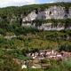 circuit GPS de rando, Marcilhac sur Célé : Marcilhac vu des falaises