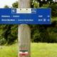 circuit GPS de rando, La voie d'Arles de Lacommande à Oloron : Chemins de St Jacques Lacommande panneau Voie d'Arles  © CDT 64