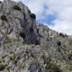 circuit GPS de rando,  La cime de Roccassièra - Duranus : Les ruines du village de Rocca Sparviera depuis le col Saint Michel