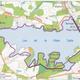 circuit GPS de rando,vtt, Le Tour du lac de la Plate Taille : Variante dans le bois du Grand Oupia (tracé rouge)