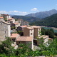circuit GPS de rando, La pointe de Mantelluccio - Bastelica  : La pointe de Mantelluccio depuis le village et le lac de Tolla