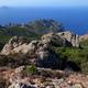 circuit GPS de rando, Capu Purcile - Bocca a Croce : Punta Muchillina ; au loin à gauche, Capu Rossu