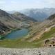 circuit GPS de rando, Circuit du Ténibre - Jour 2 - De Ferrières au refuge de Vens  : Le lac de Vens depuis le col du fer
