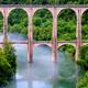 circuit GPS de cyclotourisme, Et au milieu coule une rivière… (57km) - Poncin : Viaduc de Cize-Bolozon © Catherine A - Panoramio