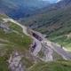 circuit GPS de cyclotourisme, La Marmotte - Galibier - Alpe d'Huez : Galibier au-dessus Plan Lachat
