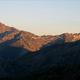 circuit GPS de rando, GR 20® Laison du refuge de Petra Piana à Guagnu  : Coucher de soleil sur l'Oro depuis Pietra Piana