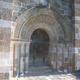 circuit GPS de rando, Col de la Molède : Le porche de l'église de Bredons
