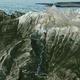 circuit GPS de rando, Mont Taygète Grèce : le parcours en 3d